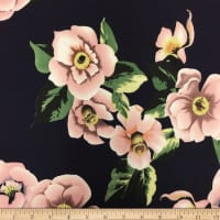 Liverpool Double Knit Winter Roses Navy