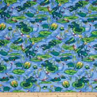 Easycare Broadcloth Frog Pond Blue