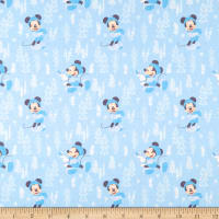 Mickey & Minnie Mouse Little Meadow Forest Blue