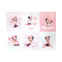 "Mickey & Minnie Mouse Little Meadow Minnie Little Meadow 36"" Panel Pink"