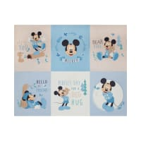 "Mickey & Minnie Mouse Little Meadow Mickey Little Meadow 36"" Panel In Blue"