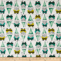 Cotton + Steel Front Yard Gnomes Green