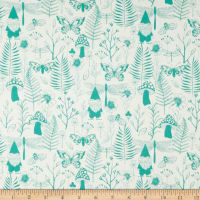 Cotton + Steel Front Yard Garden Teal
