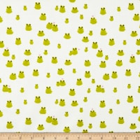 Cotton + Steel Front Yard Frogs Green