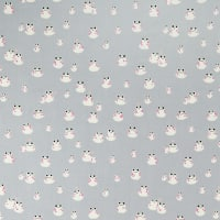 Cotton + Steel Front Yard Frogs Grey