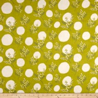 Kokka Spring Flower Mimosa Double Gauze Green/Cream