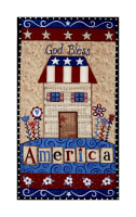 "Land That I Love God Bless America 24"" Panel Ecru"