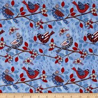 Land That I Love Birds Blue
