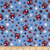 Land That I Love Owl Light Blue