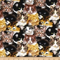 Furr Ever Friends Cat Collage Gray