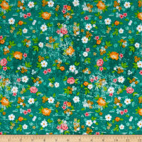 Roses & Arrows Medium Floral Teal