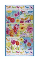 "Bloom Bouquet 24"" Panel Blue"