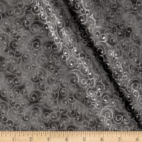 Elegant Christmas Scroll Metallic Gray