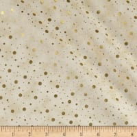 Elegant Christmas Dot Metallic Ivory