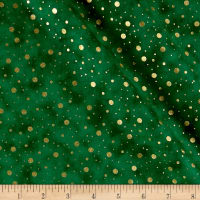 Elegant Christmas Dot Metallic Green