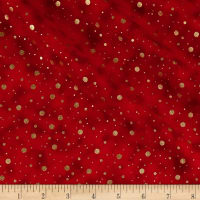 Elegant Christmas Dot Metallic Red
