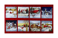 "Let It Snow Blocks 22"" Panel Red"