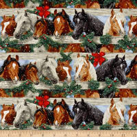 Let It Snow Horses Brown