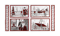 "Western Greetings Placemat 24"" Panel White"