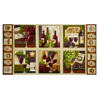 "Vineyard Valley 23"" Panel Blocks Ecru"