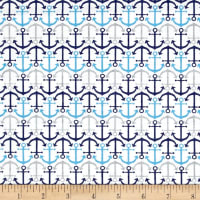 Anchor'S Away Mini Anchors White/Blue