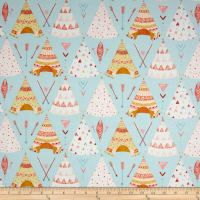 Dream Catcher'S Flannel Tee Pees Aqua