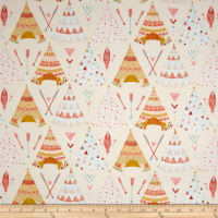 Dream Catcher'S Flannel Tee Pees Cream/Multi