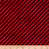 Detour Ahead! Diagonal Stripe Red