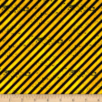 Detour Ahead! Diagonal Stripe Yellow