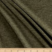 Fabric Merchants Double Brushed Jersey Knit Olive Two Tone