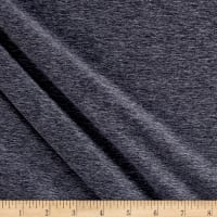 Fabric Merchants Double Brushed Jersey Knit Midnight Navy Two Tone