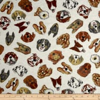 Fabric Merchants 100% Cotton Jersey Knit Dogs