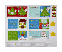"Huggable & Loveable Holiday Books Merry Christmas Little One 36"" Panel Red"