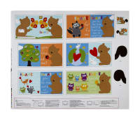 "Huggable & Loveable Holiday Books Thanks A Bunch 36"" Panel Multi"