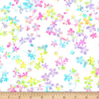 "Watercolor Meadow Digital 108"" Wide Back Pastel"