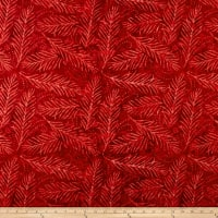 "Wilmington Essential 108"" Backing Delicate Friends Red"