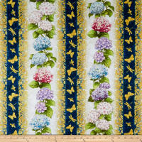 Wilmington Hydrangea Dreams Repeating Stripe Multi