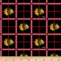 NHL Broadcloth Chicago Blackhawks Plaid