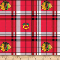 NHL Fleece Chicago Blackhawks Plaid