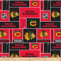 NHL Broadcloth Chicago Blackhawks Blocks