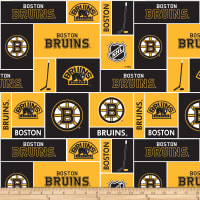 NHL Broadcloth Boston Bruins Blocks