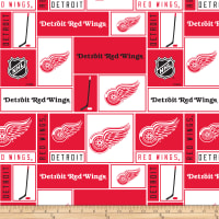 NHL Broadcloth Detroit Red Wings Blocks