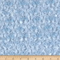 David Textiles Rosette Plush Fleece Blue
