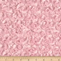 David Textiles Rosette Plush Fleece Pink