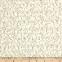 David Textiles Rosette Plush Fleece Ivory