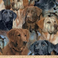 Wildlife Fleece Prints Hunting Dogs Fleece Multi