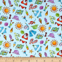 Road Trip Vacation Motifs Light Blue