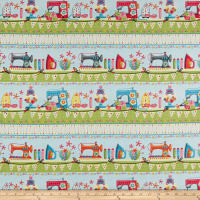 One Stitch At A Time Sewing Border Stripe Green
