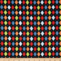 Sweater Weather Argyle Flannel Black/Multi