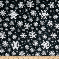 Sweater Weather Snowflakes Flannel Black